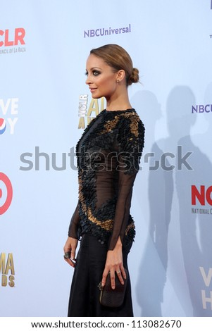 LOS ANGELES - SEP 16:  Nicole Richie arrives at the 2012 ALMA Awards at Pasadena Civic Auditorium on September 16, 2012 in Pasadena, CA - stock photo