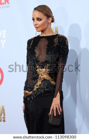 LOS ANGELES - SEP 16:  Nicole Richie arrives at the 2012 ALMA Awards at Pasadena Civic Auditorium on September 16, 2012 in Pasadena, CA