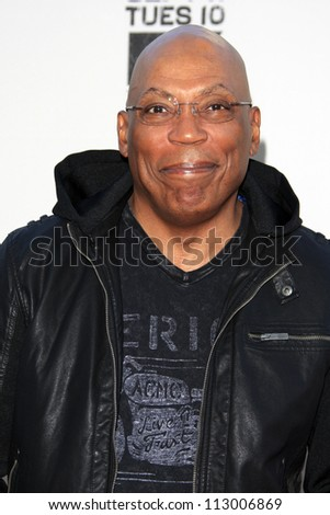 """LOS ANGELES - SEP 8:  Paris Barclay arrives at the """"Sons of Anarchy"""" Season 5 Premiere Screening at Village Theater on September 8, 2012 in Westwood, CA - stock photo"""