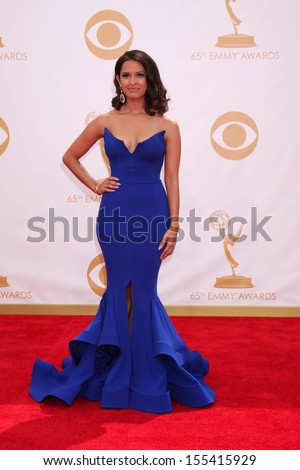 LOS ANGELES - SEP 22:  Rocsi Diaz at the 65th Emmy Awards - Arrivals at Nokia Theater on September 22, 2013 in Los Angeles, CA