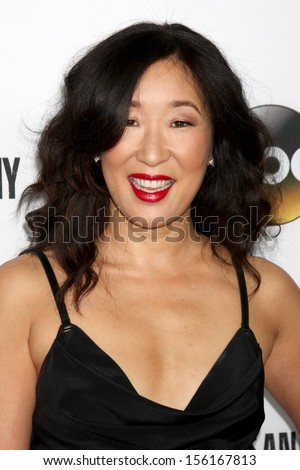 LOS ANGELES SEP 28 Sandra Oh at the Grey's Anatomy 200th Show Party at The Colony on September 28 2013 in Los Angeles CA