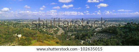Los Angeles Skyline from Mulholland, California