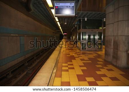 Los Angeles / United States - 15 Jul 2017: Subway in Los Angeles, California, USA #1458506474