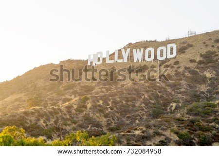 LOS ANGELES, USA - AUGUST 20, 2017: The world famous Hollywood sign. Editorial.