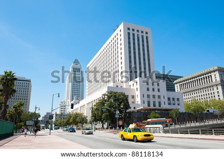 LOS ANGELES, USA - CIRCA APRIL 2011: The United States Court House. Construction of this building was completed in 1940
