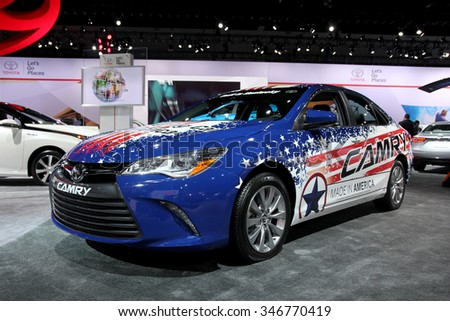LosAngeles USA Nov Toyota Camry Made In USA At The LA - Auto show usa