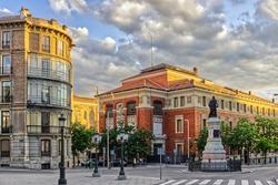 Los Jeronimos district in Madrid, Spain. Real Academia Espanola.