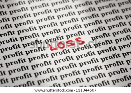 Loss in profit