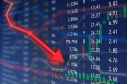 Loss of business investment over financial price drop.