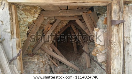 Lost Burro Mine Shaft Entrance In Death Valley National Park California
