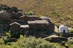 lost drave village in the middle of serra da freita, typical mountain village, Drave, Arouca