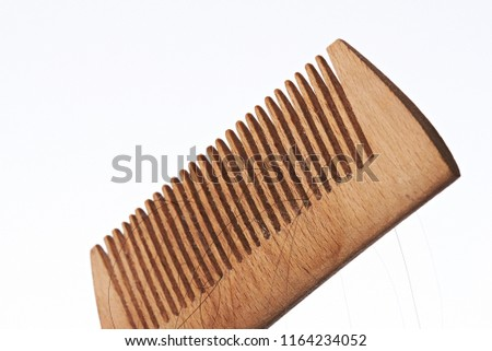 Comb Brush Hair With Hair Loss On White Background Hair Brush