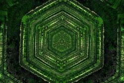 Lost In Maze Woods Green Symmetry