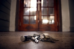 lost keys on the floor in front of the door