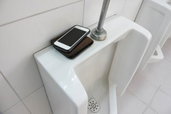 Lost Phone and wallet.Forget the phone and wallet in toilet.