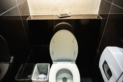 Lost Phone.Forget the phone in public toilet.