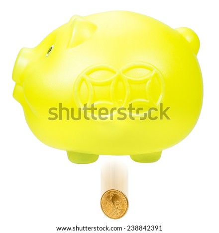 Lost savings. The cost drop from the gold piggy bank (yellow pig), which means savings lost.