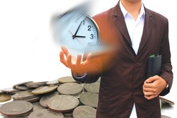 Lost time to do business,businessconcept