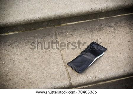 Lost wallet, loss of money, business bankruptcy or bankrupt