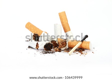 lot of cigarette butts