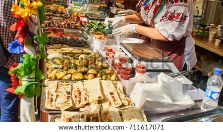 Shutterstock lot of food street festival