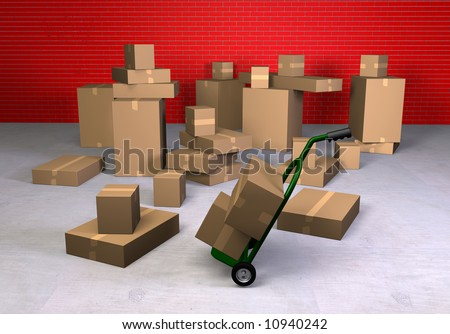 Lots of boxes ready to ship