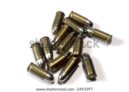 lots of bullets on white background