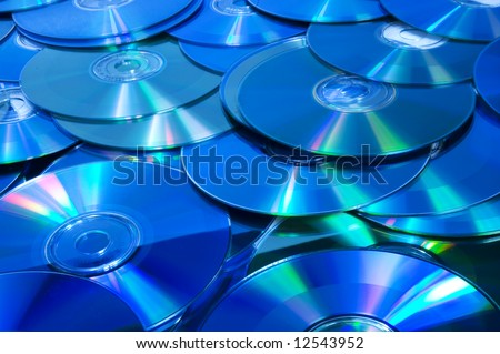 lots of CD/DVD disks from above