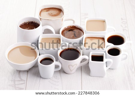 lots of coffee cups - coffee time #227848306