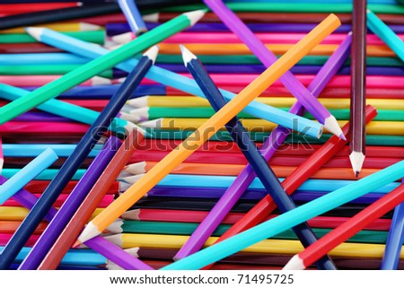 lots of colorful crayons - school time