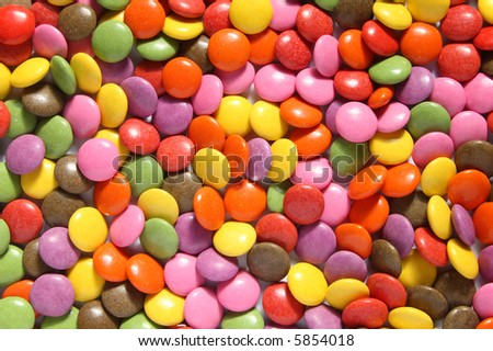 Lots of colorful smarties.