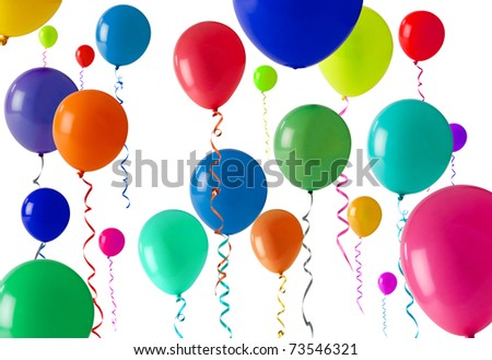 Lots of coloured balloons as a background texture