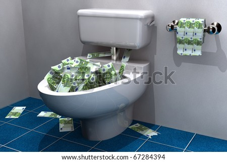 lots of euros about to be flushed down the drain