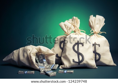 lots of money inside bags