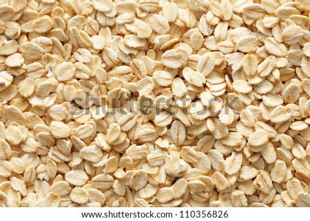 lots of oatmeal or oat flakes as background