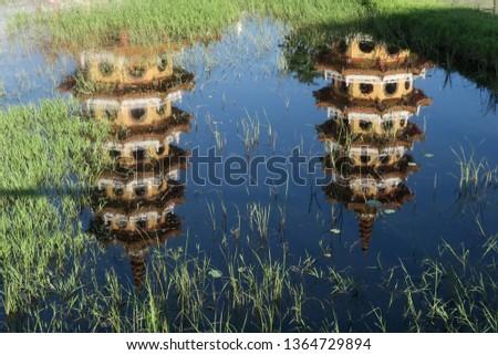 Lotus Pond in Kaohsiung, Taiwan 蓮池潭 ストックフォト ©