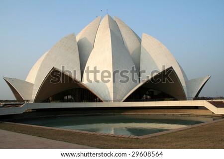 Lotus Temple prayer hall, Bahai House of Worship, Delhi, India