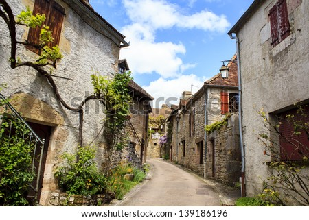 Loubressac village - one of the most gorgeous medieval villages in South-Western France.