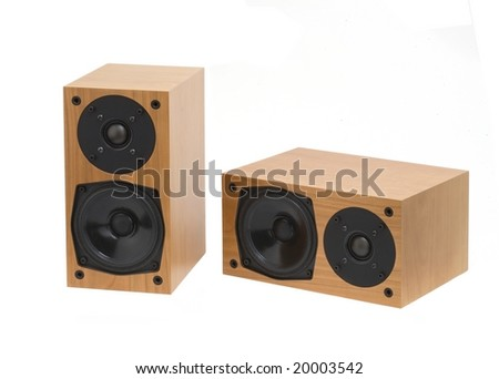 Loudspeaker isolated on white with clipping path.