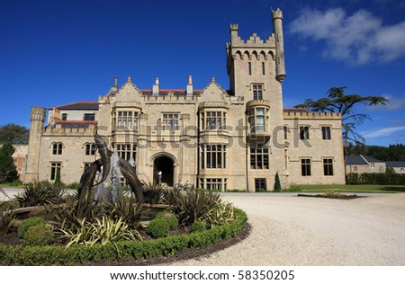 Lough Eske castle in Donegal county, Ireland, on a beautiful, sunny day in june.