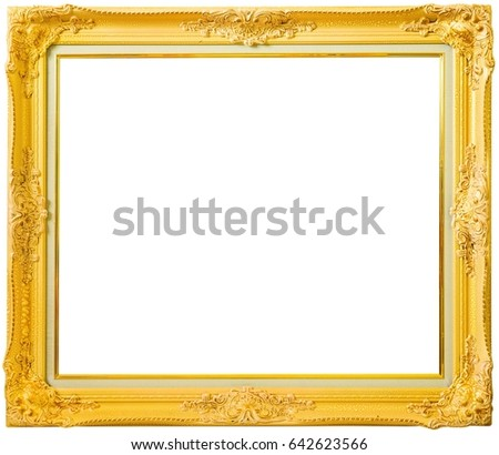 Free Photos Gold Vintage Frame Isolated On White Gold Frame Louis