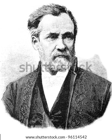 Louis Pasteur - French microbiologist and chemist, member of the French Academy (1881).  Illustration from 'Niva' magazine, publishing house A.F. Marx, St. Petersburg, Russia, 1913 Stock fotó ©