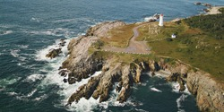 Louisbourg Lighthouse, Cape Breton, Nova Scotia.