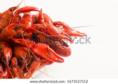 Louisiana Spicy Boiled Cajun Crawfish ストックフォト ©