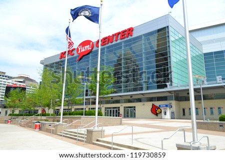 LOUISVILLE, KY - AUGUST 25: The KFC Yum! Center, pictured on August 25, 2012, is home to the University of Louisville's basketball team. The arena cost $238 million to build and seats 22,000 people.