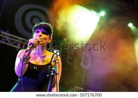 LOULE, PORTUGAL - JUNE 30: Caruma  performs onstage in a world music festival at festival med on June 30, 2012 in Loule, Portugal.