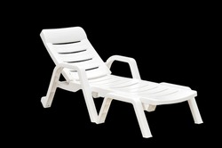 lounge chairs on black background