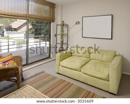 lounge of a second floor of a brand new house