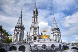 Lourdes, France: The Sanctuary of Our Lady of Lourdes is one of the largest pilgrimage centers in Europe