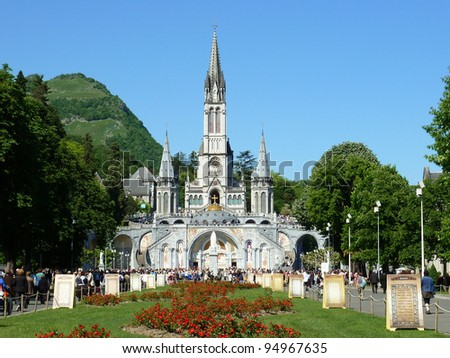 LOURDES – MAY 8: The Basilica of our Lady of the Rosary on May 8, 2011 in Lourdes (France). The Basilica of our Lady of the Rosary is a Roman Catholic church in the Sanctuary of Our Lady of Lourdes.